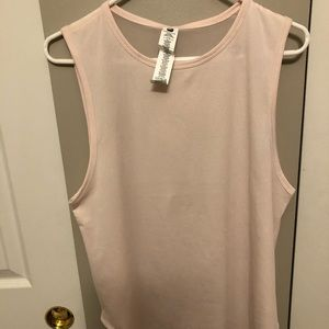 NWT Women's Fabletics Light Pink Tank Size Large